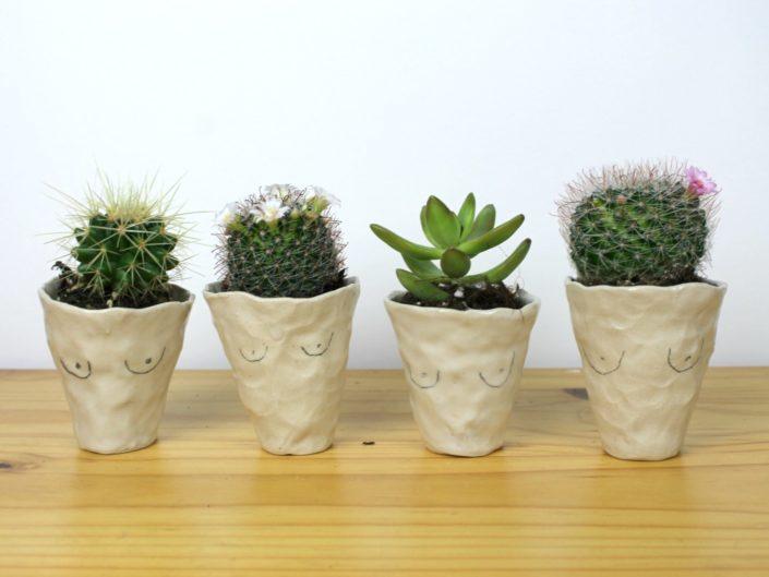 nice pear ceramics boob cactus planters