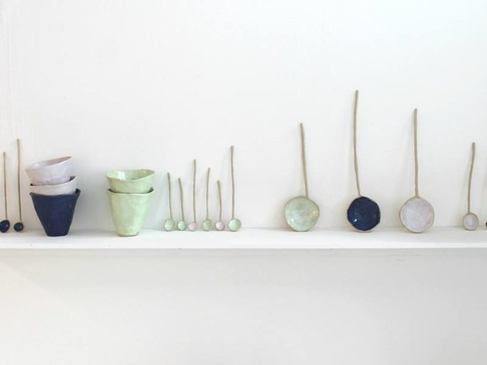 Ceramics on Shelf